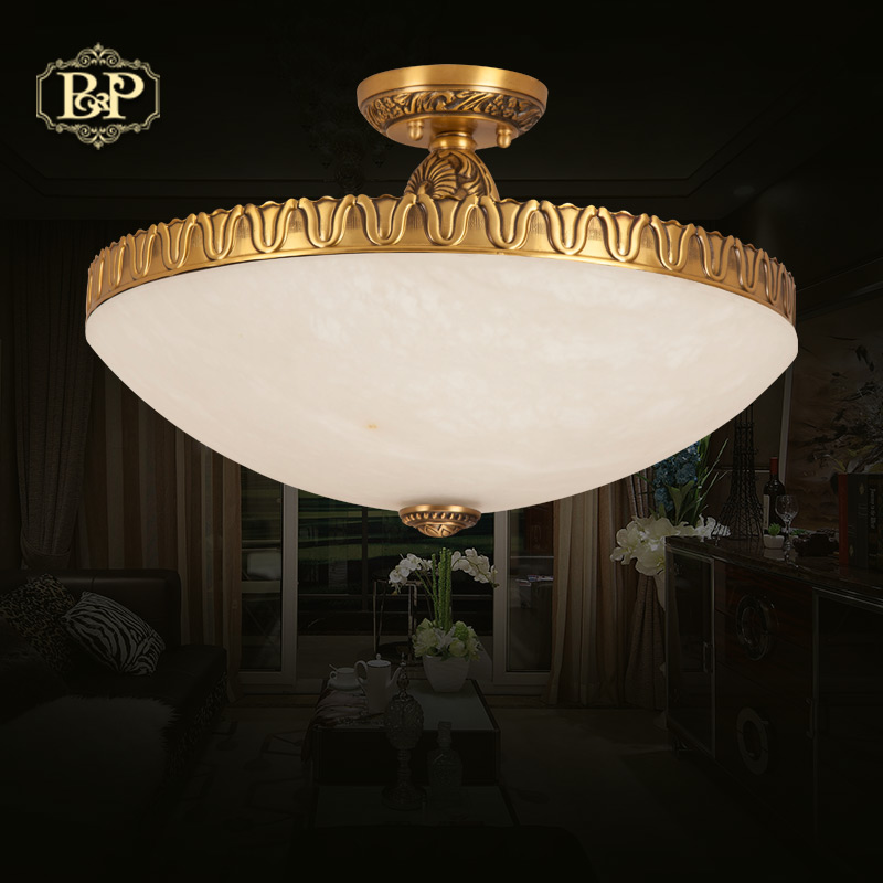 European american retro copper ceiling lights restaurant balcony aisle lights bedroom modern minimalist atmosphere marble lamps