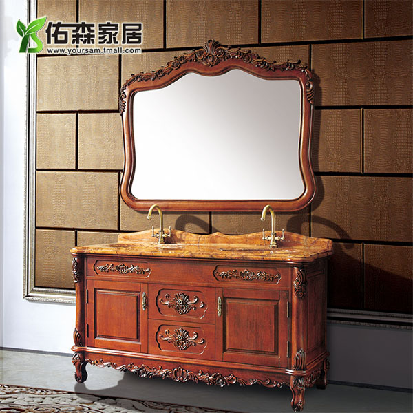 European and american bathroom cabinet american villa carved wood bathroom cabinet bathroom cabinet bathroom furniture bathroom wts