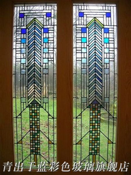 European and american stained glass/glass mosaic/wooden door glass door core/art glass/glass door wine cabinet cupboard