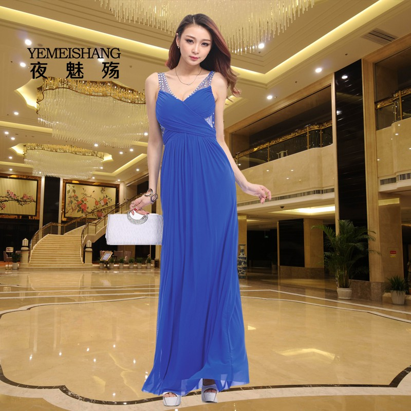 European and american women sexy v-neck dress nightclub dress sexy evening dress miss ktv work clothes slim lady clothes