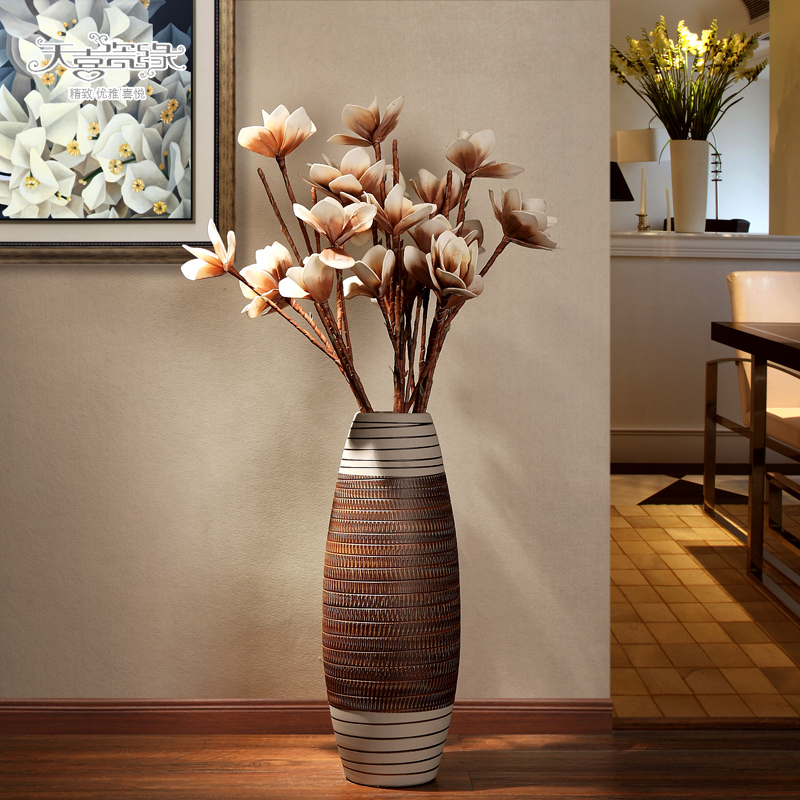 Get Quotations · European ceramic floor vases modern and stylish living room tv cabinet dried floral ornaments is hotel & China Floor Floral Vases China Floor Floral Vases Shopping Guide at ...