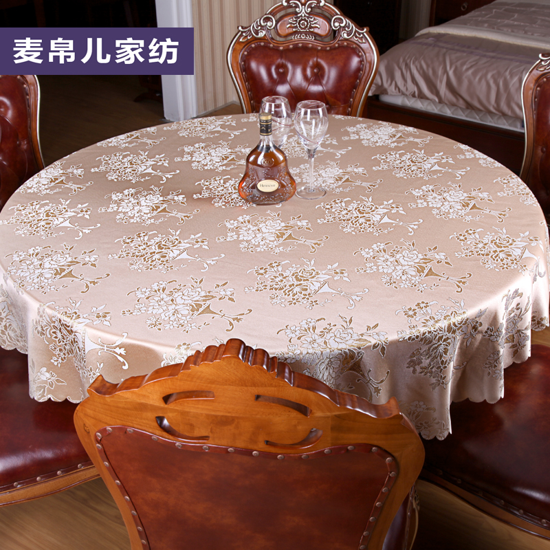 European classical golden circle jacquard tablecloth bugaboo hotel restaurant table cloth tablecloth round table cloth