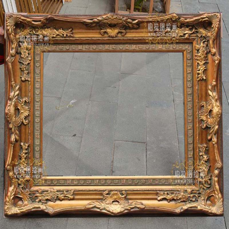 European classical solid wood corner flower frame oil painting frame decorative frame 36 inch 24 inch photo frame picture frame