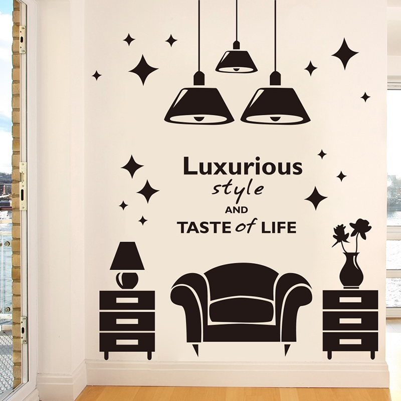 European creative home klimts self adhesive wall stickers bedroom living room sofa background wall surface decoration ornaments personalized droplight
