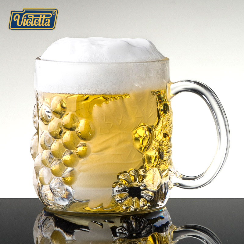 European creative unleaded crystal glass cup with the glass beer cup wine bar beer mug glass cup
