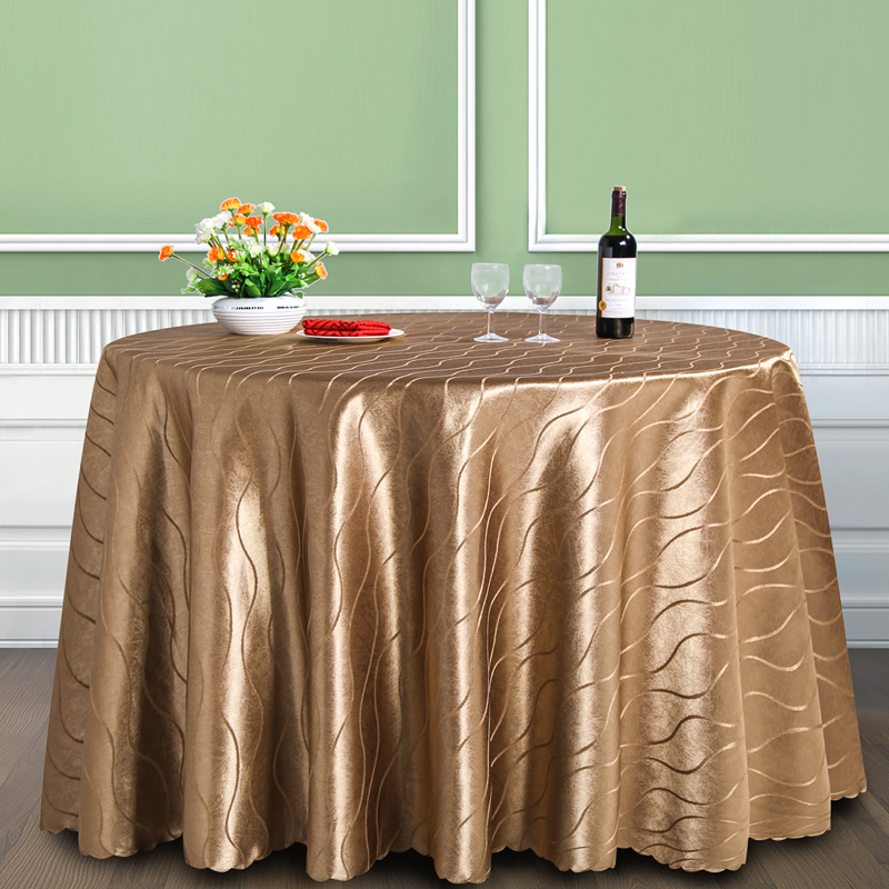 European custom hotel tablecloth restaurant coffee color stripe round table dinner banquet tablecloth tablecloth fabric tablecloth square