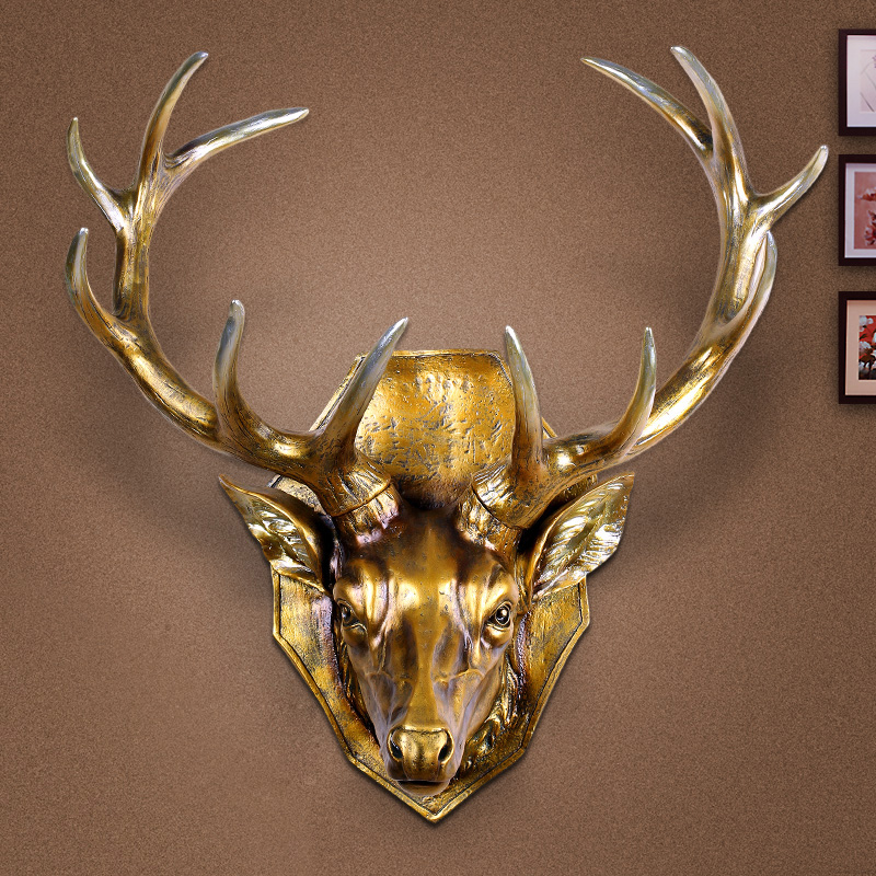 European deer wall mural hanging wall hangings american retro bar living room wall decoration wall ornaments horsehead