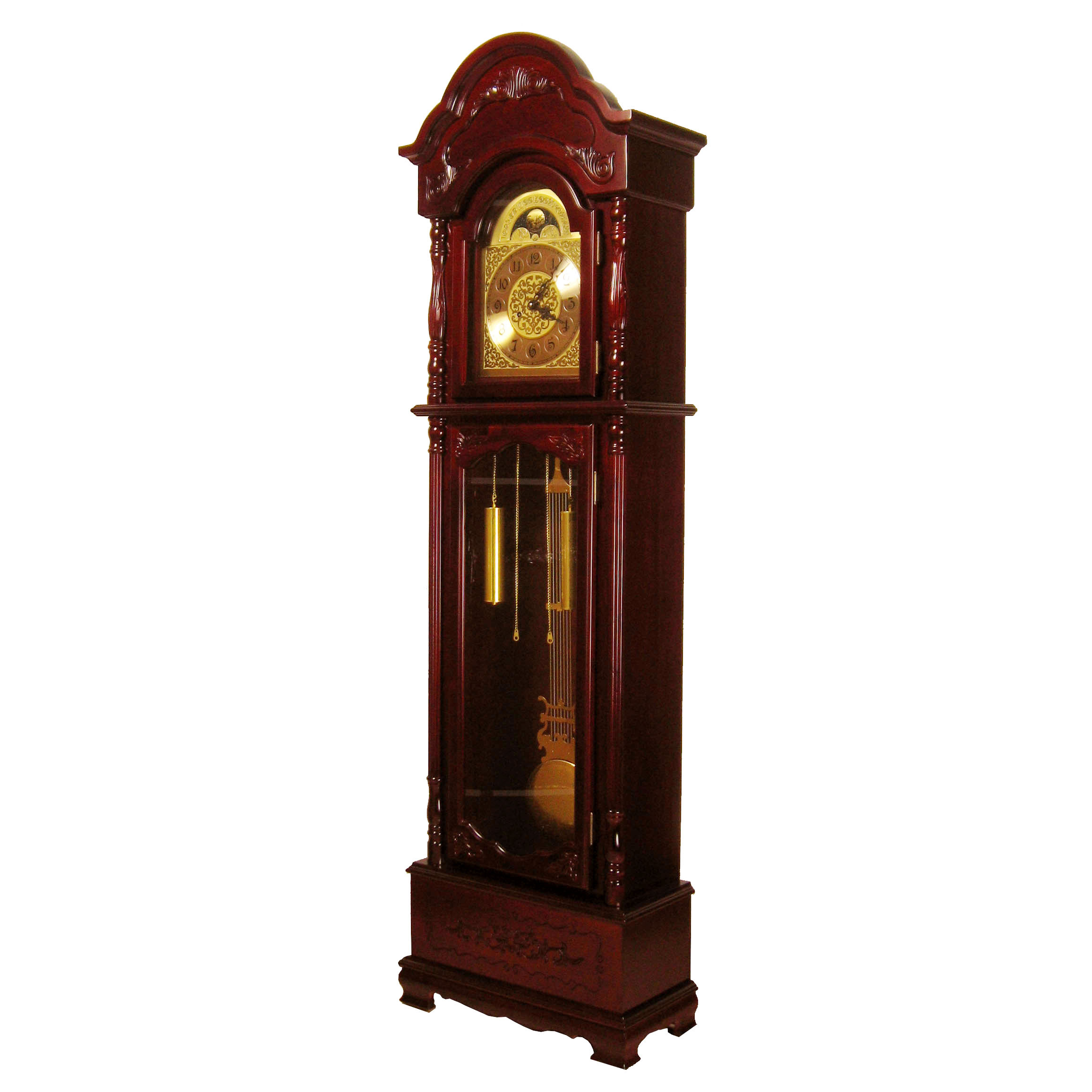 European grandfather clock/living room floor clock/mechanical manufacturing pendulum swing/wood hand carved work floor clock
