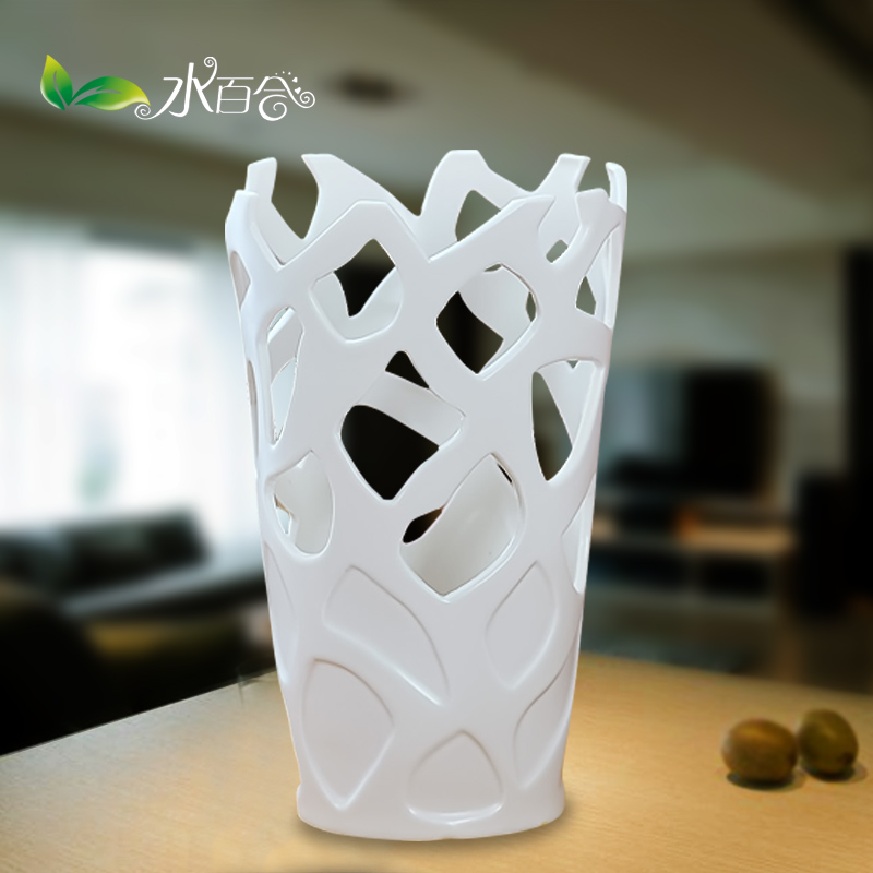 European home white jingdezhen ceramic vase modern minimalist porcelain flowers into a tv cabinet knick knacks