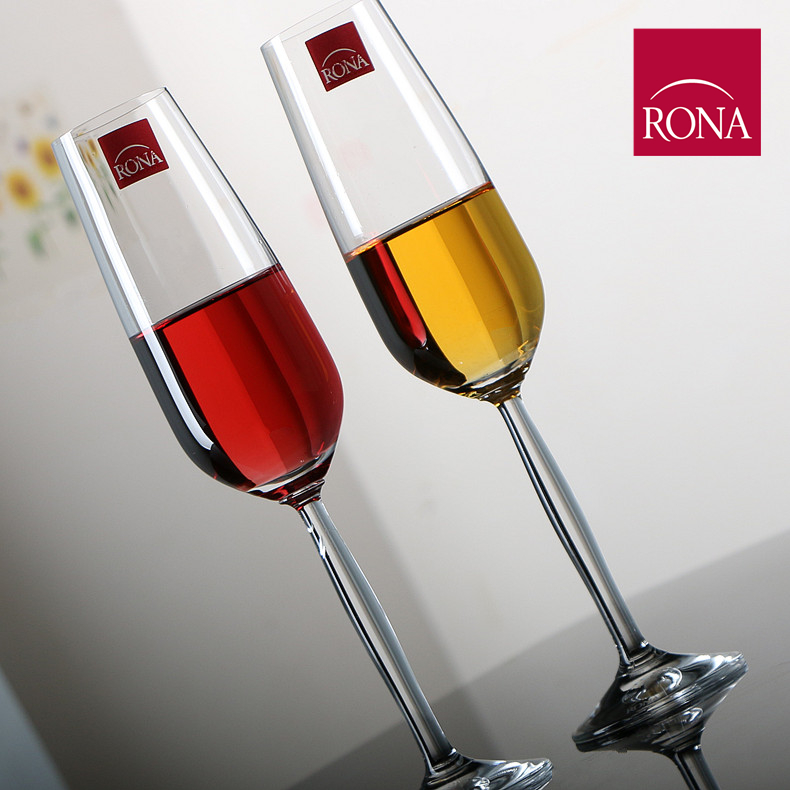 European imports of czech rona unleaded crystal wine glass tall champagne glass of red wine cup gas bubble glass wedding on the cup