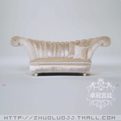European luxury fabric sofa roolls princess beauty salon sofa sofa sofa sofa double petals