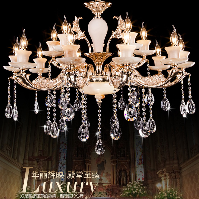 European modern minimalist zinc alloy crystal chandelier lighting fixtures living room bedroom villa dining wine shop