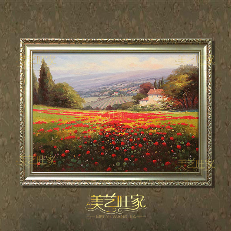 European painting framed landscape painting decorative painting authentic hanada contadino painted oil painting new home living room dining hall bedroom wall painting