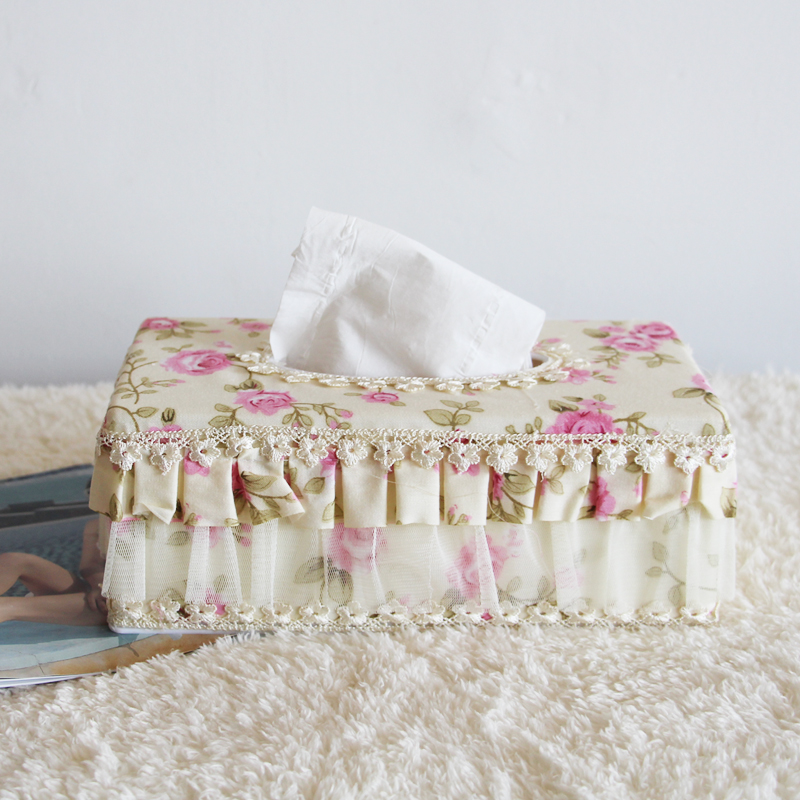 European pastoral fabric tissue box tissue box tissue box craft jewelry home decoration decorative gift ornaments tissue boxes
