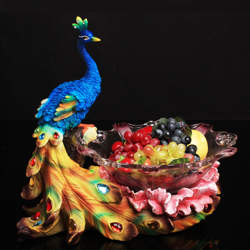 European peacock fruit plate fruit plate creative fashion creative home decorations wedding gift housewarming gift ornaments living room