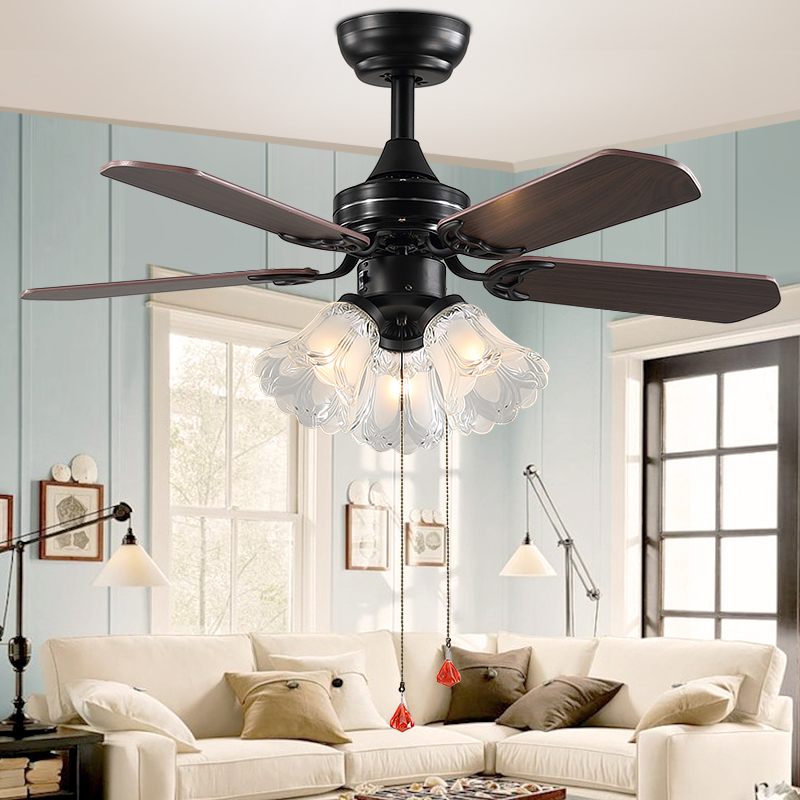 Even burn euclidian household living room ceiling fan light fan light fan lights restaurant american style chandelier bedroom ceiling fan light fan