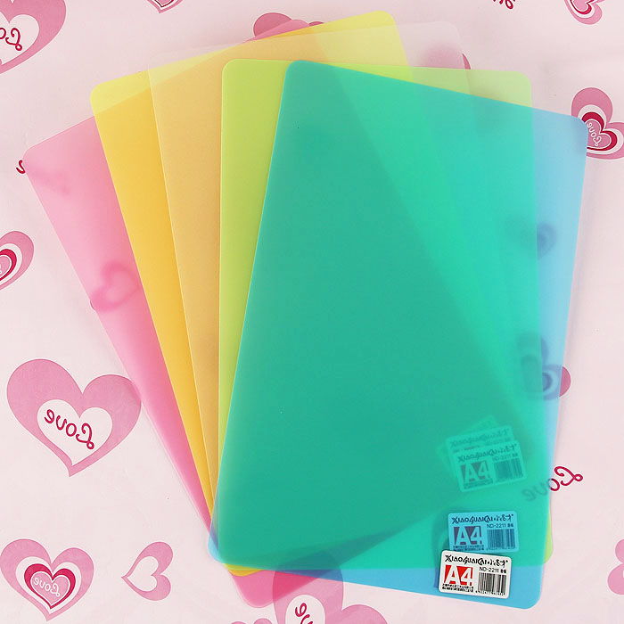 Exam students writing pad writing pad plastic transparent color a4 pad backing plate replication competent board 290mm * 190mm film
