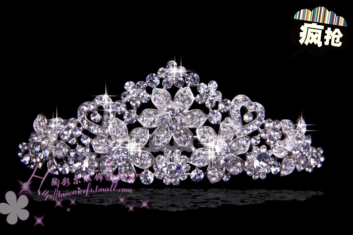 Exquisite bridal frontlet wedding dress accessories rhinestone tiara crown full of diamond cute 1141