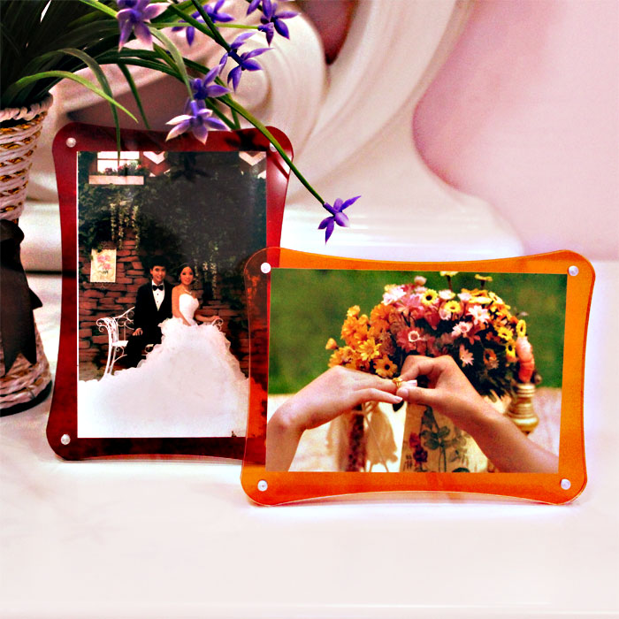 Exquisite fashion acrylic photo frame swing sets 7 inch 6 5 8 10 a4 frame photo frame creative