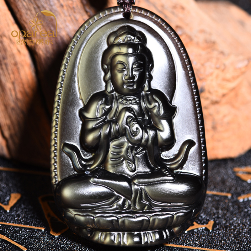 Eye color the ice kind of obsidian pendant big day tathagata is not sheep monkey natal buddha pendants patron saint of the eight men and women