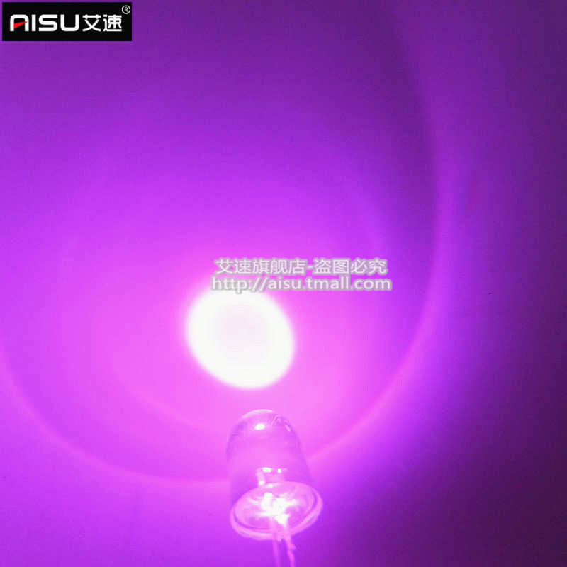 F10/10MM pink hair pink light pink light emitting diode led round highlighted long legs