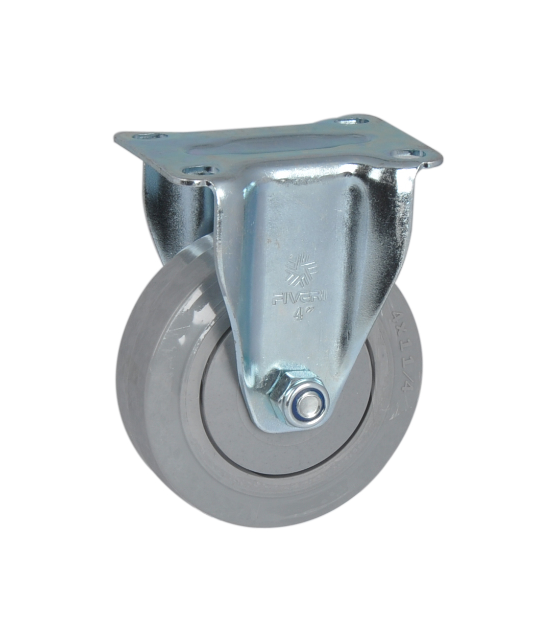 Fa furui medium-sized 4-inch directional 4 plastic core super synthetic rubber (pp + tpr) casters 5004A-736