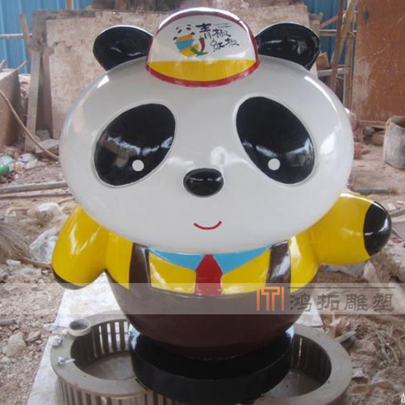 Factory direct fiberglass sculpture fiberglass sculpture cartoon custom stained glass and steel sculpture ornaments HT662
