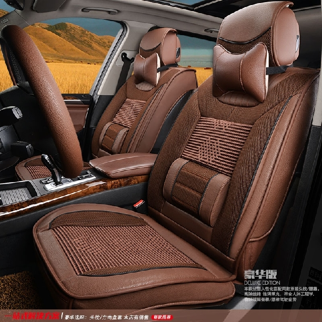 Factory direct high-quality badger skin leather large size leather shaped universal seat cover the whole package seat cover seat cover car seat cover four seasons general