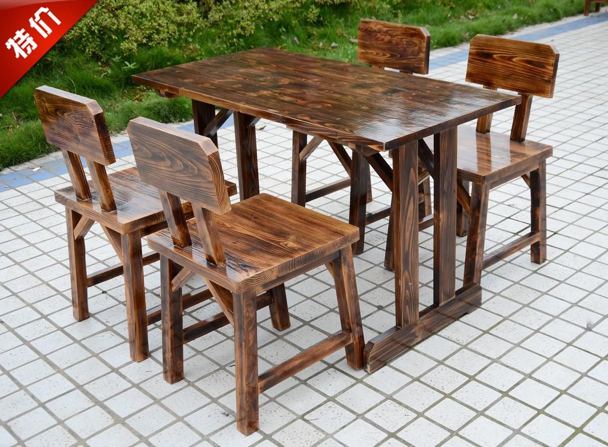 Factory Direct! Wood Outdoor Patio Bar Restaurant Chairs And Coffee Tables  And Chairs Restaurant Tables