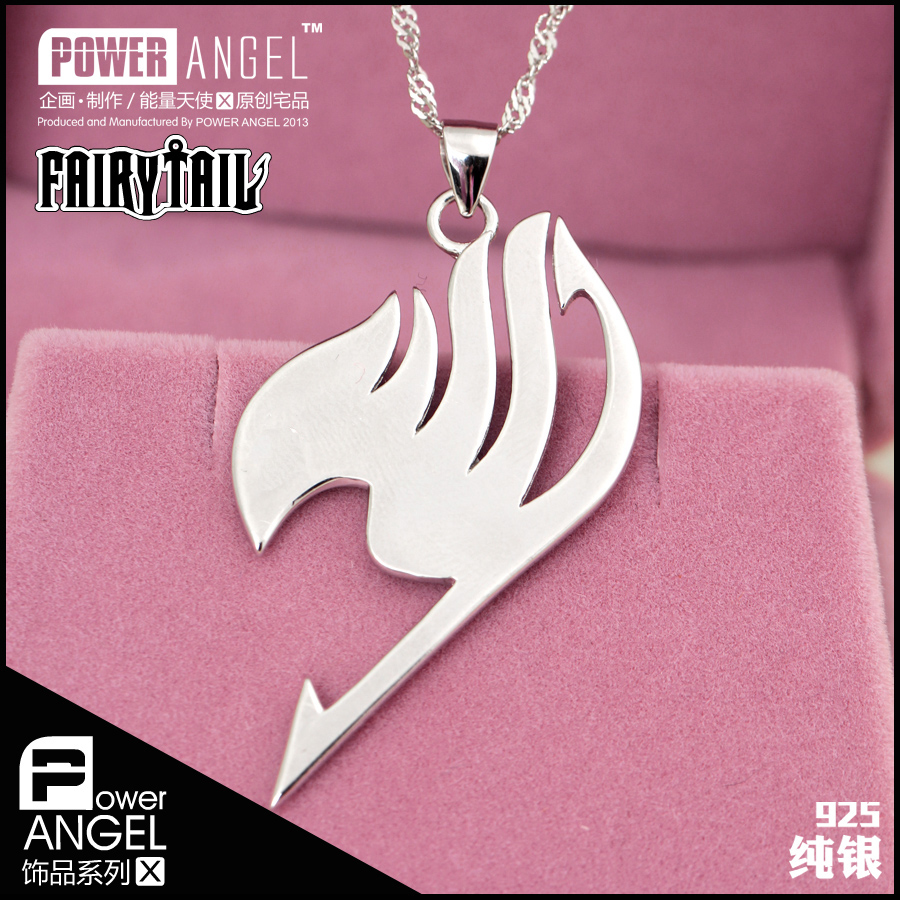 Fairy tail fairy tail anime around 925 sterling silver pendant necklace jewelry to send his girlfriend a gift