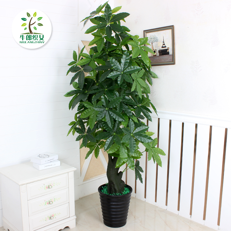 Marvelous Get Quotations · Fake Tree Pachira Living Room Floor Potted Large Type  Indoor Artificial Plants Artificial Flowers Bonsai Tree Part 30