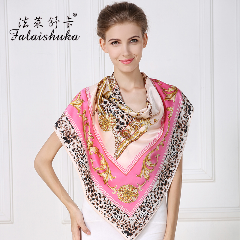 Falaishuka silk scarf 100% silk scarves female sunscreen shawl dual ultra large print scarf