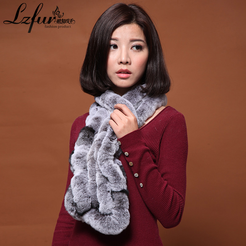 Falbala female winter wool scarf rex rabbit fur scarf rabbit fur scarf whole skin rex rabbit fur collar two warm circle