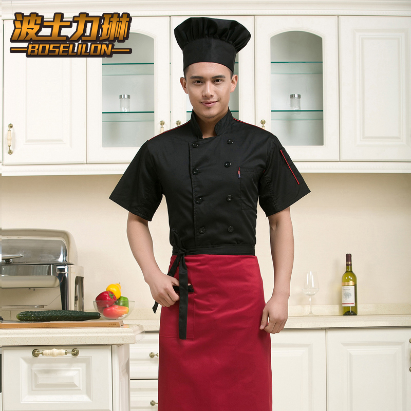Fall and winter clothes chef uniforms chef clothing short sleeve double-breasted chef clothing chef uniforms chef service hotel restaurant chef clothing short sleeve summer