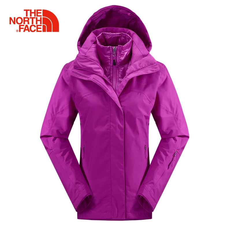 Fall and winter north/thenorthface female models down liner triple jackets c900