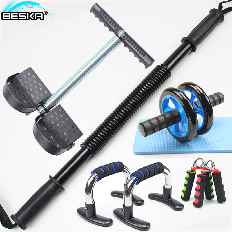 Family ensemble rod grip chest exercise fitness equipment rally bili pushups abdominal wheel grip force control