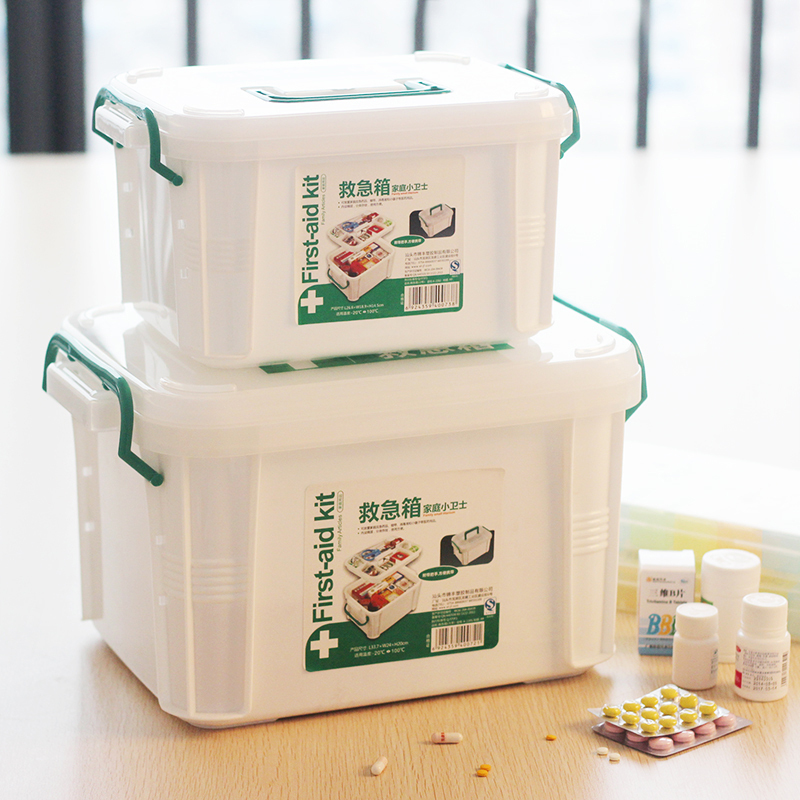 Family medicine cabinet with multifunction home first aid kit small family medicine chest medicine box king