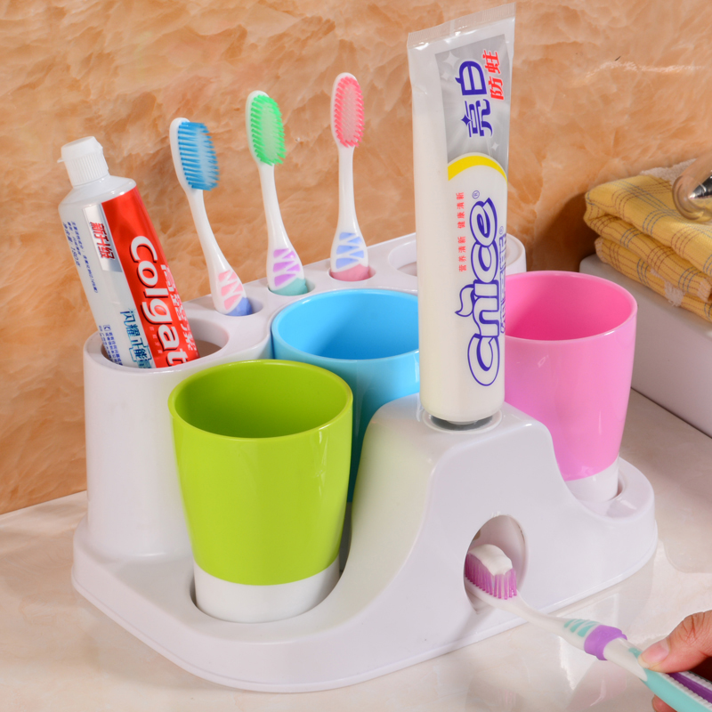 Family of three toothbrush holder toothbrush cup toothbrush holder with base ivorysoapâwhen automatic toothpaste dispenser toothbrush holder cup holder kit