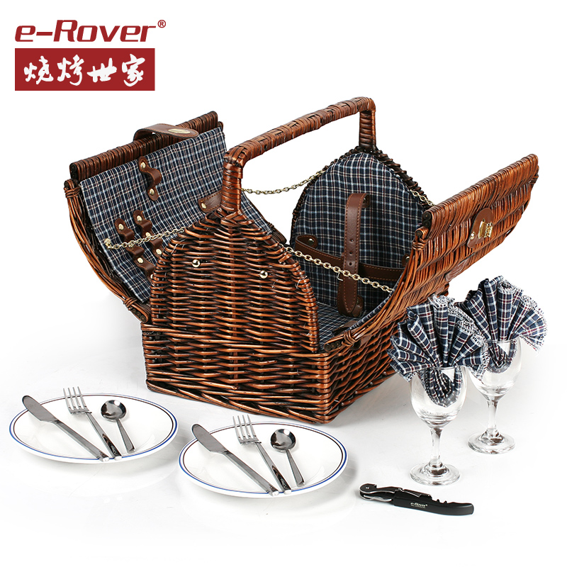 Family outdoor barbecue picnic bag picnic bag picnic cutlery sets picnic basket picnic barbecue supplies necessary