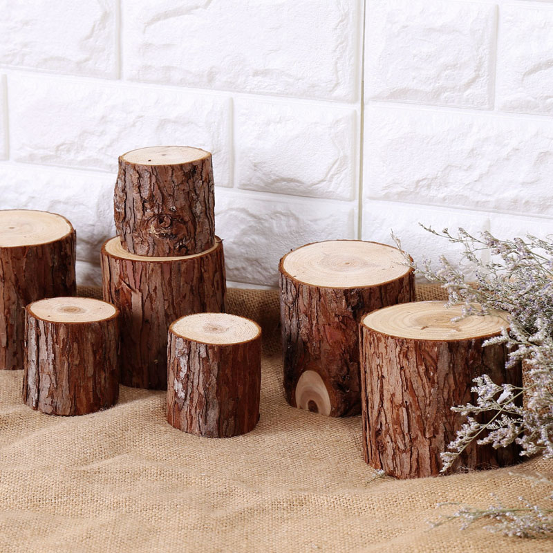 Fan · makeup american country of natural fir stakes creative home accessories wood logs pier model room decoration