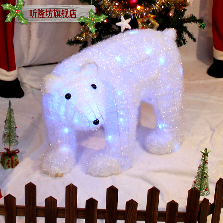Fang xin long christmas polar bear deer christmas decorations christmas decorations hotel mall scene layout