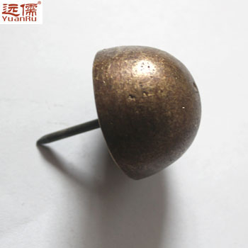 Far confucian chinese antique bronze palace far large copper drum nails nail doornail hemisphere nail doornail 4.6 cm bronze