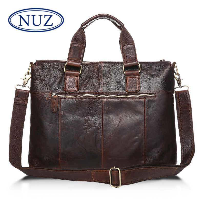 Fashion casual shoulder bag man crazy horsehide nuz stereo zipper bag messenger bag leather bag retro wave packet 7814