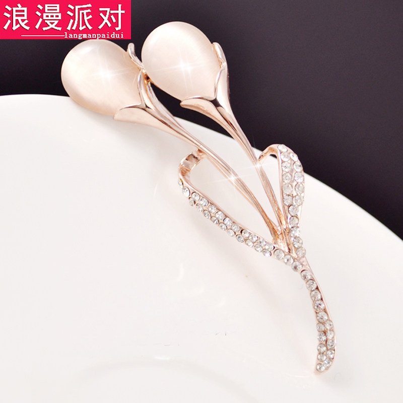Fashion crystal brooch brooch female flowers shawl scarf buckle buckle brooch pin collar pin korean jewelry accessories sweater tide