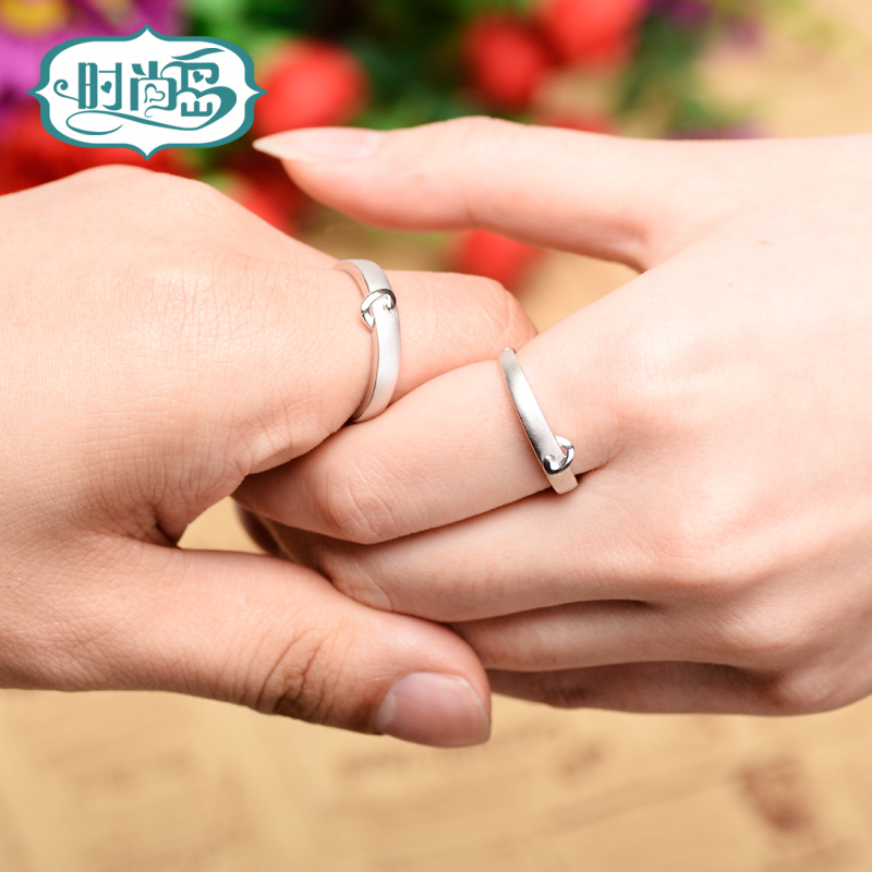 Fashion island soulmate ring 925 silver couple rings korean female jewelry ring ring couple ring