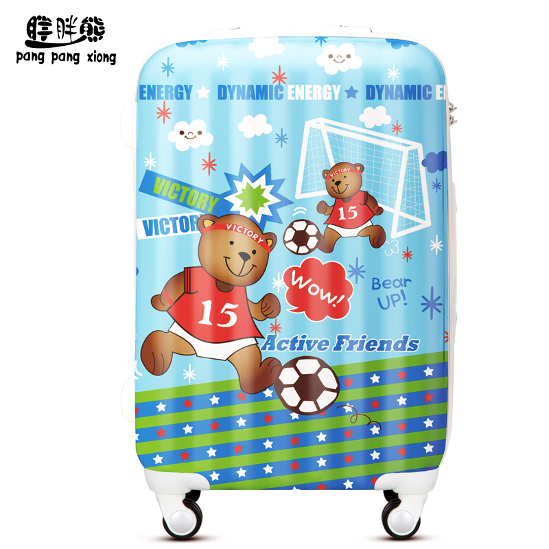 Fat bear cartoon bear large capacity bag men and women travel trolley luggage suitcase caster board chassis can bag ZXQ013