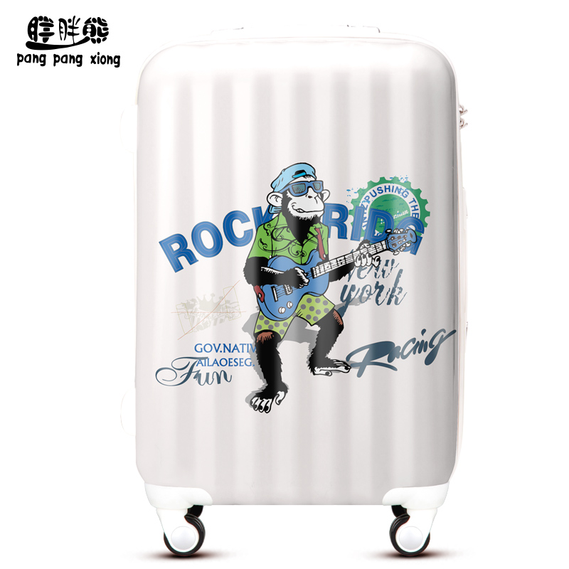 Fat bear cartoon monkey rock suitcase trolley case suitcase caster board chassis male line lee box hxd032