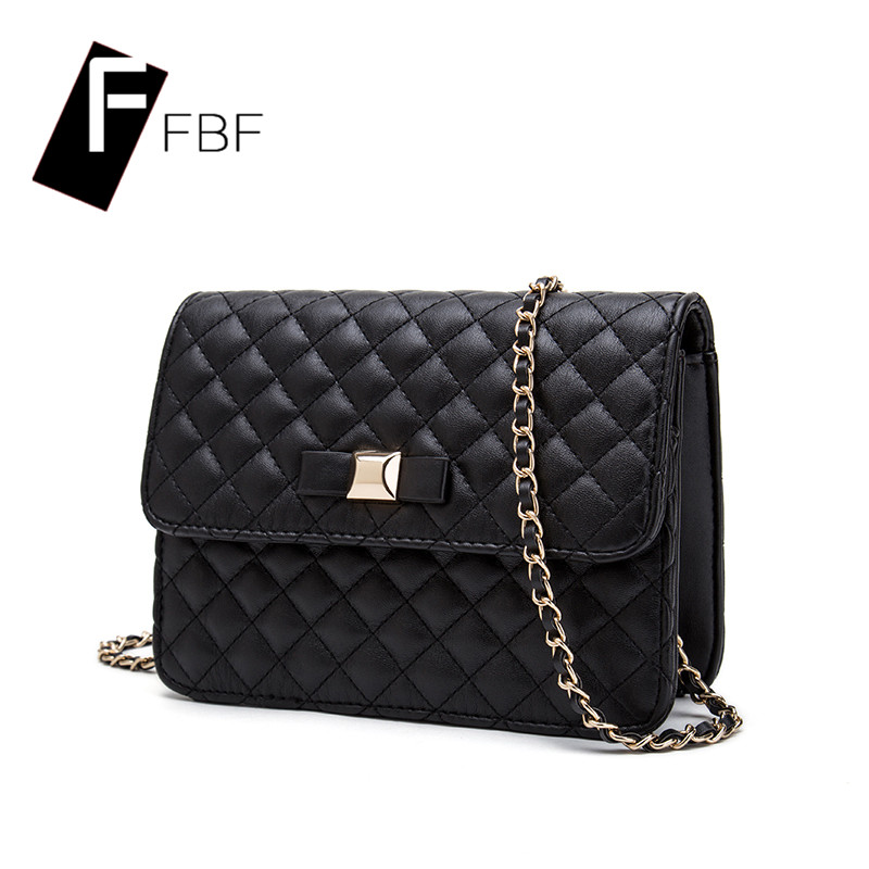 Fbf cikou european and american fashion handbags lingge chain packet youth 2016 new solid color phone package 6839