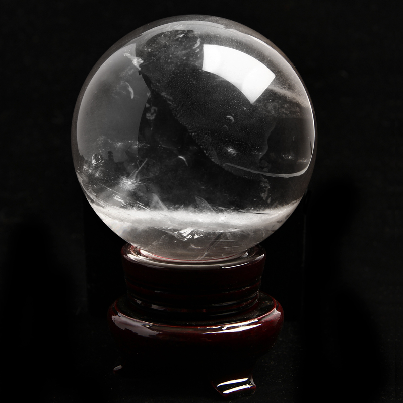 Featured natural white crystal ball natural crystal ball genuine natural white crystal ornaments crystal stone polished