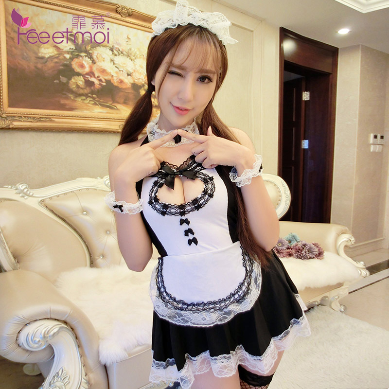 Fei mu innocent maid maid sexy lingerie chest a backless sexy lingerie pieces suit uniforms temptation 9743